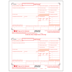 W-2 Forms & Envelopes