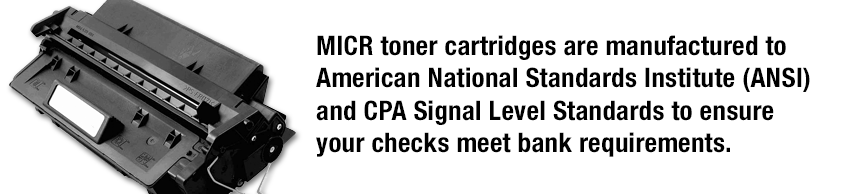 MICR Toner cartridges